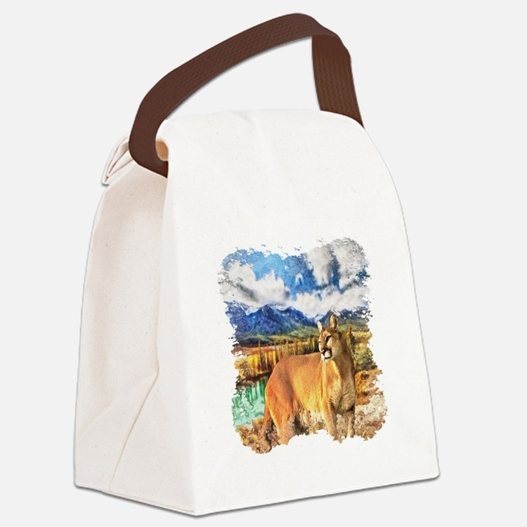 River Cougar Canvas Lunch Bag