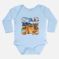 River Cougar Long Sleeve Infant Bodysuit