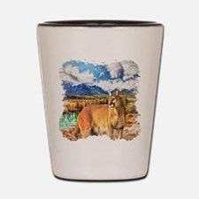 River Cougar Shot Glass