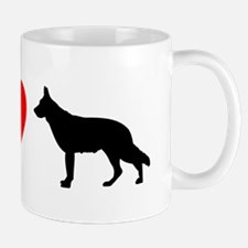 I Heart German Shepherd Mug