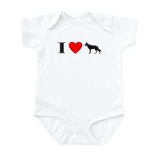 I Heart German Shepherd Baby Bodysuit