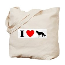 I Heart German Shepherd Tote Bag