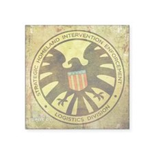 "MAOS Vintage Shield Square Sticker 3"" x 3"""