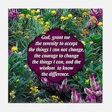 SERENITY PRAYER Tile Coaster