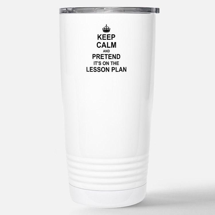 Cute Keep calm lesson plan Travel Mug