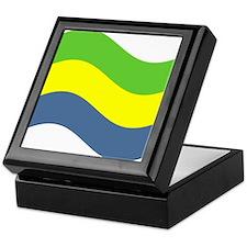 Waving Gabon Flag Keepsake Box