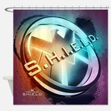 MAOS Shield Abstract Shower Curtain