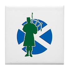 Scottish Piper Tile Coaster