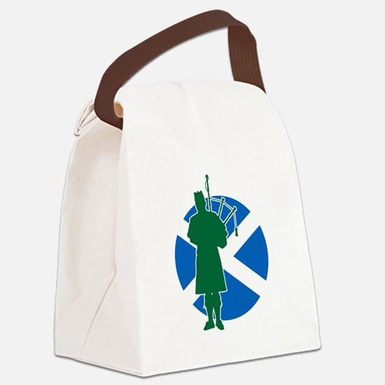 Scottish Piper Canvas Lunch Bag
