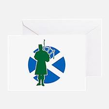 Scottish Piper Greeting Card
