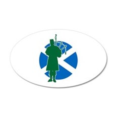 Scottish Piper Wall Decal