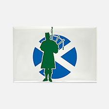 Scottish Piper Rectangle Magnet