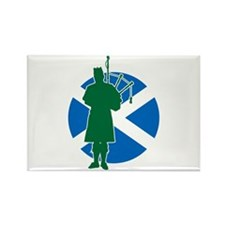 Scottish Piper Rectangle Magnet (10 pack)