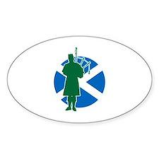 Scottish Piper Decal