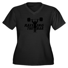 Raising The Women's Plus Size V-Neck Dark T-Shirt