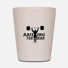 Raising The Bar Shot Glass