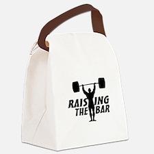 Raising The Bar Canvas Lunch Bag