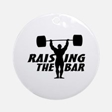 Raising The Bar Ornament (Round)