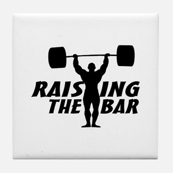 Raising The Bar Tile Coaster