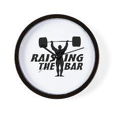 Raising The Bar Wall Clock