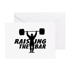Raising The Bar Greeting Card
