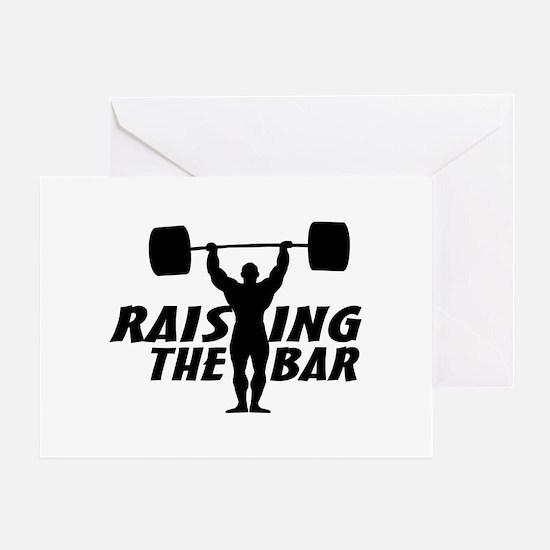 Raising The Bar Greeting Card