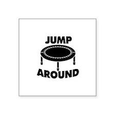 """Jump Around Trampoline Square Sticker 3"""" x 3"""""""