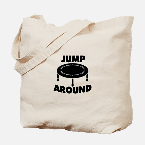 Jump Around Trampoline Tote Bag