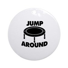 Jump Around Trampoline Ornament (Round)