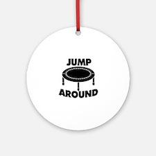 Jump Around Trampoline Ornament (Round)
