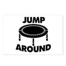 Jump Around Trampoline Postcards (Package of 8)