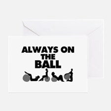 Always On The Ball Greeting Card