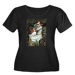 Ophelia & Cavalier Women's Plus Size Scoop Neck Da