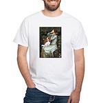 Ophelia & Cavalier White T-Shirt