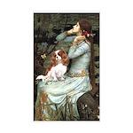 Ophelia & Cavalier Sticker (Rectangle)