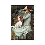 Ophelia & Cavalier Rectangle Magnet