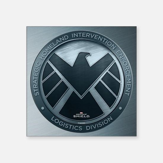 "MAOS Brush Metal Shield Square Sticker 3"" x 3"""