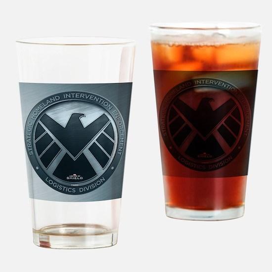 MAOS Brush Metal Shield Drinking Glass