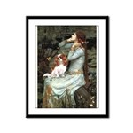Ophelia & Cavalier Framed Panel Print