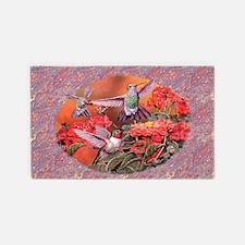 3 Hummingbirds 3'x5' Area Rug