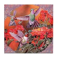 3 Hummingbirds Tile Coaster