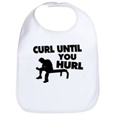 Curl Until Your Hurl Bib