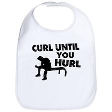 Curl Until Your Hurl Bib