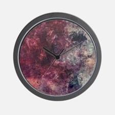 Watercolor / acrylic in purple and gray Wall Clock