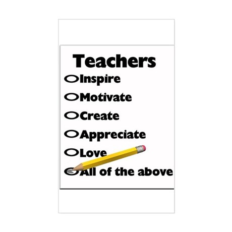 Gifts for Teachers Rectangle Sticker