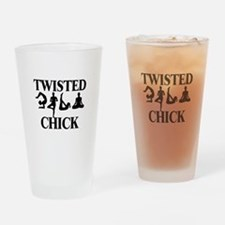Twisted Yoga Chick Drinking Glass