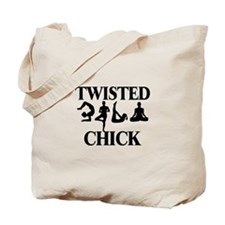 Twisted Yoga Chick Tote Bag