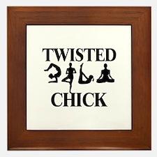 Twisted Yoga Chick Framed Tile