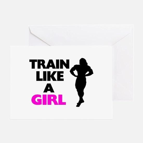 Train Like A Girl Greeting Card