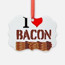 I Love Bacon Ornament